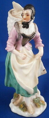 Antique 1750 Meissen Porcelain Peasant Lady Figurine Porzellan Figure Figur