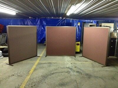 """Office Partition 60""""W x 60""""H / Office Panel, Room Divider, with feet"""
