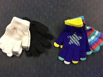 4 Pairs Of Kids Trendy Winter Gloves, Joe Boxer, One Size Fits Most, Girls