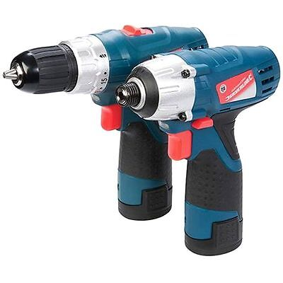 Silverline Silverstorm Cordless 10.8V Drill Driver & Impact Driver Twin Pack