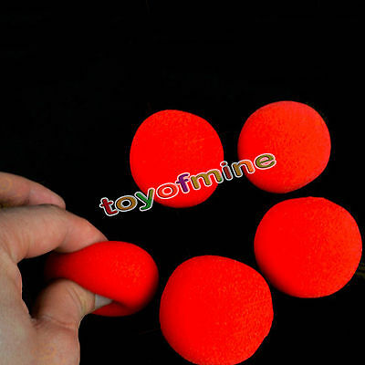 5Pcs 4cm Super Soft Sponge Red Balls Close-Up Magic Street Party Trick Prop