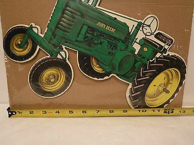 NEAT John Deere Tractor Die Cut Metal Tin Sign  Farm Country Decor Barn Garage