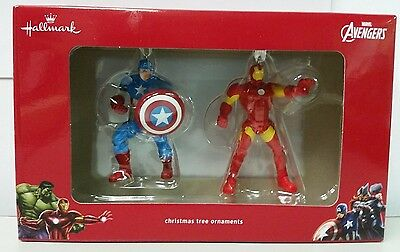 Hallmark Christmas Tree Ornament Marvel Avengers Captain America Iron Man