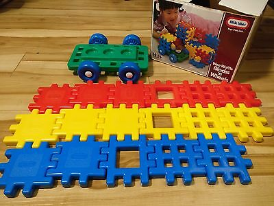 VTG Lot 17 Little Tikes Wee Waffle Primary Colors Blocks Wheels Truck Base Car