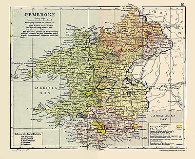 A3 Map of Pembroke, Wales.