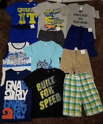 NWT Boys Size 7/8 Summer Clothes And Outfits Lot Gymboree