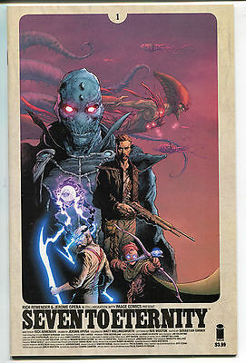 SEVEN TO ETERNITY # 1a & 1b both COVERS 1A 1B NM-MINT ALL 1ST PRINT