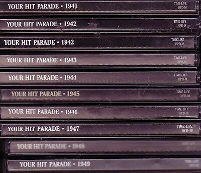 Time Life Your Hit Parade 9CD 1941-1949 ARTIE SHAW MILLS BROTHERS NAT KING COLE