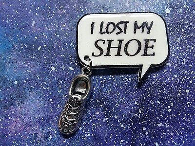 I lost my shoe quote badge/pin with shoe charm supernatural sam winchester spn