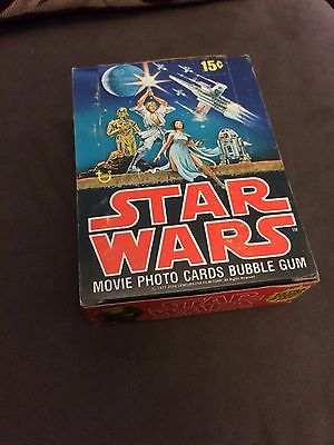 1977 Topps Star Wars Series 1 Box With 36 Sealed Packs Very Nice Unopened Rare