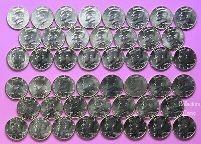 2000 - 2019 Kennedy Half 40 Coin Uncirculated P&D Set from US Mint Rolls/Bags