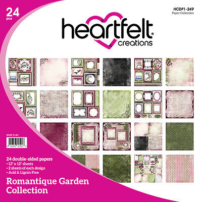 Heartfelt Creations Romantique Garden 12x12 Cardstock Paper Collection Retired