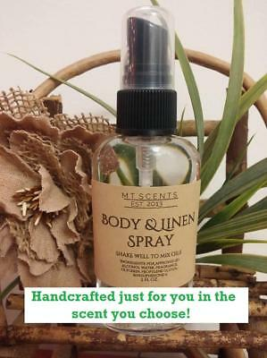 2oz CUSTOM MADE TO ORDER HAND CRAFTED BODY & LINEN SPRAY CHOOSE OVER 160 SCENTS