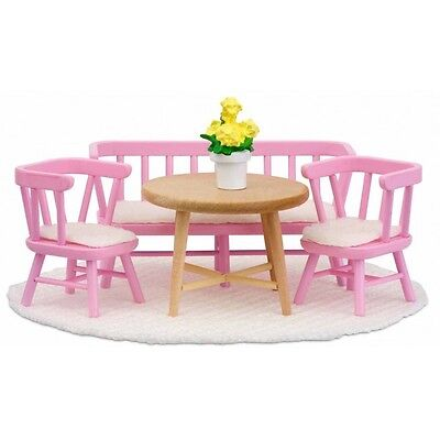 Lundby Smaland Kitchen Furniture Set Pink Scale 1:18