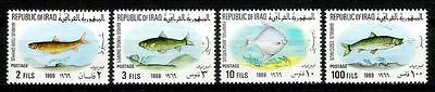 IRAQ IRAK Iraqi Fishes 1969 SG# 825  SC# 491 -94  CATALOGUE = $21 Full SET MNH