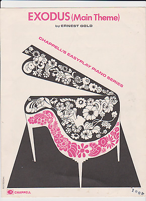 Exodus Piano Sheet Music by Ernest Gold Chappell Easy Play Solo 1961 Film