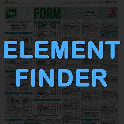 ElementFinder - Horse Racing Stats Software