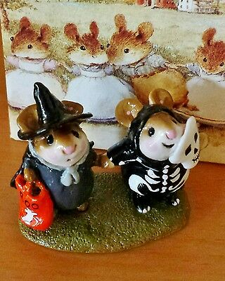 "Wee Forest Folk M-155 ""Littlest Witch and Skeleton"" Mint"