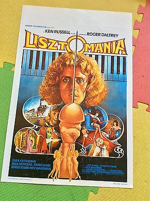 LISZTOMANIA 1979 Belgian Original Film Movie Poster. WHO interest.