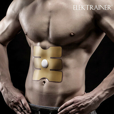 EMS Bauchmuskel-Trainer Patch Fitness 15 Stufen Abnehmen Body Training Sixpack