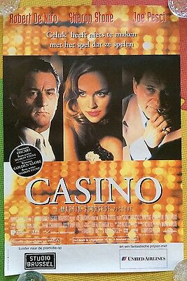 CASINO 1995 Belgian Original Film Movie Poster. Martin Scorsese.