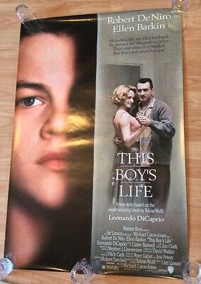 THIS BOYS LIFE Original US One 1 Sheet Film Movie Poster. Robert De Niro Caprio