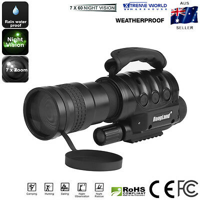 Night Vision Monocular Weatherproof  7x Zoom 6GB Storage