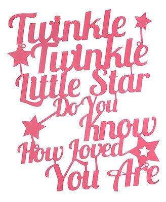 ~ Twinkle Little Star  ~ Pink Baby Girl Childs Wall Art Plaque Newborn Nursery