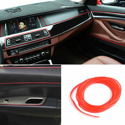 5m Red Edge Gap Line Universal Molding Accessory Car Decoration Interior Garnish
