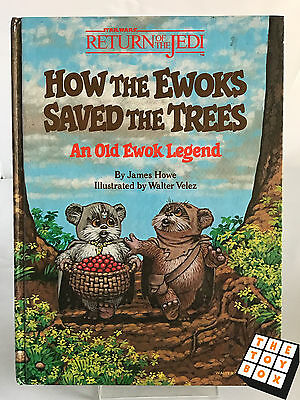 Star Wars ROTJ Return of The Jedi How The Ewoks Saved The Trees Annual Book 1984