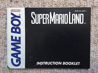 Super Mario Land Manual - Game Boy GB Instruction Manual Only
