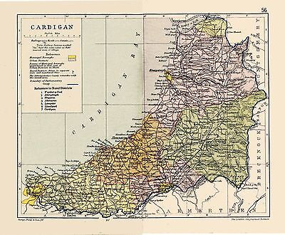 A map of Cardigan/Ceredigion, Wales, dated 1897.