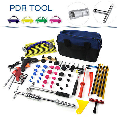 PDR Set Paintless Dent Repair Hail Removal Tools Golden Puller Bridge Glue Gun
