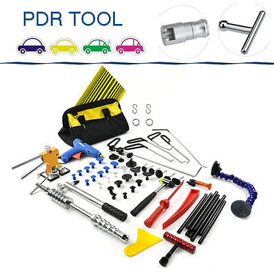 PDR Rod Paintless Auto Body Dent Repair Tool Hail Removal Puller Lifter Glue Gun