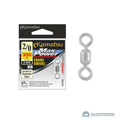 Kamatsu K-2199 Ss Max Power Crane Swivel Stainless Steel, Big Game Power Wirbel