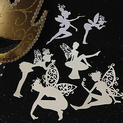 Die Cut stickers - Fairies x 6 - Cardmaking & Scrapbooking