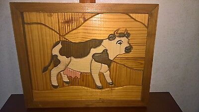 Cow Picture, looks like a puzzle