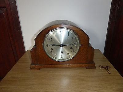 ART DECO HALLER WESTMINSTER CHIME MANTEL CLOCK  working