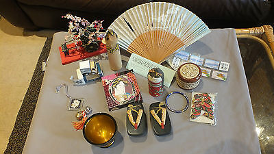 COLLECTION of JAPANESE SOUVENIRS & NOVELTIES. ASIAN ORIENTIAL JAPAN
