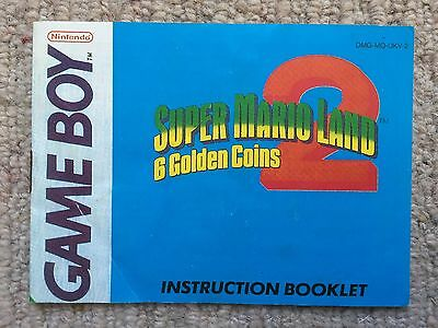 Super Mario Land 2 6 Golden Coins - Game Boy GB Instruction Manual Only