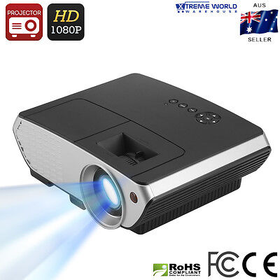 2000 Lumen LED Projector 50 to 140 Inch Projection 1080P HDMI, VGA, USB