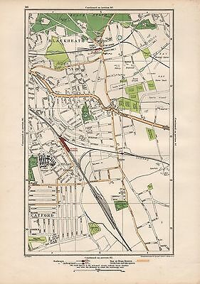 1923 London Street Map - Blackheath,lee,hither Green,catford