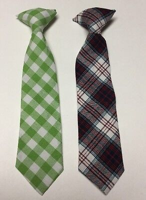 """Lot /2 Target Brand Toddler Boys Clip On Ties Size 2T-5T, 9"""" EUC"""