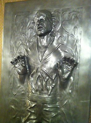 ** Life Full Size Han Solo In Carbonite Prop Statue Star Wars **