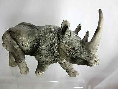 MAGNIFICENT! Porcelain Sculpture African Rhinoceros!