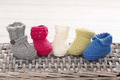 Easy Baby Booties Boots Shoes Gift Ugg Knitting Pattern Free Penguin