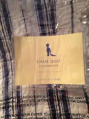 Pottery Barn Kids Chase Quilt Baby Toddler REVERSIBLE Rare Exclusive