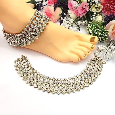 Indian Asian Bollywood Bridal Jewellery Ethnic Wear Anklets Payal Pazaib