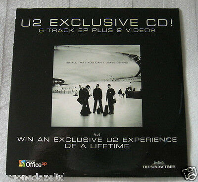 U2 Exclusive 5 Track + 2 Videos - Sunday Times Promo Cd. Great Condition.