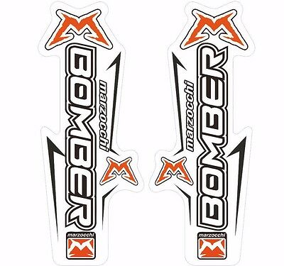 Marzocchi Drop Off Triple 2005 Fork Suspension Sticker Decal Kit Adhesive Green